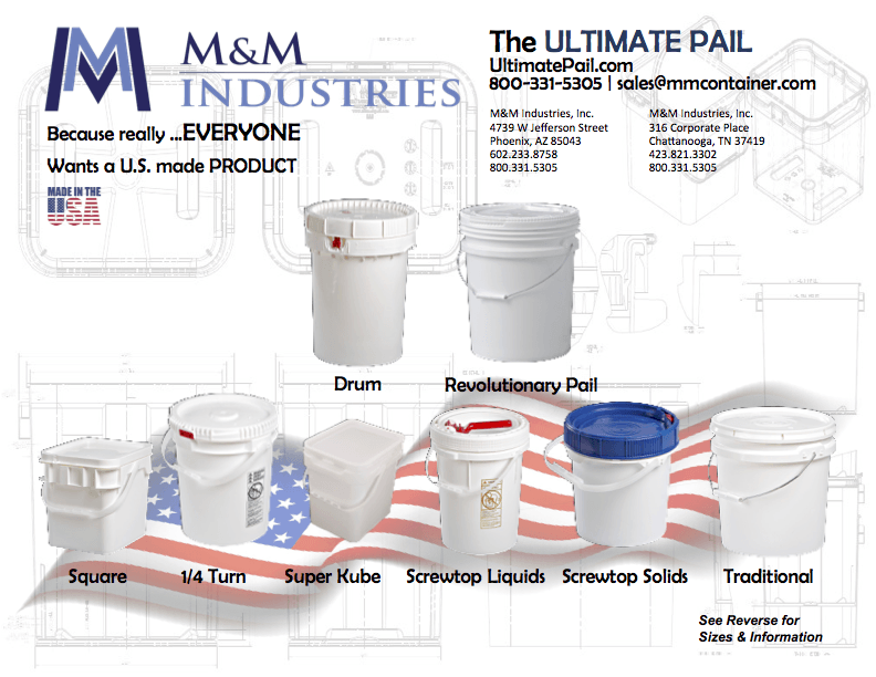 Plastic Pail Product Reference Table